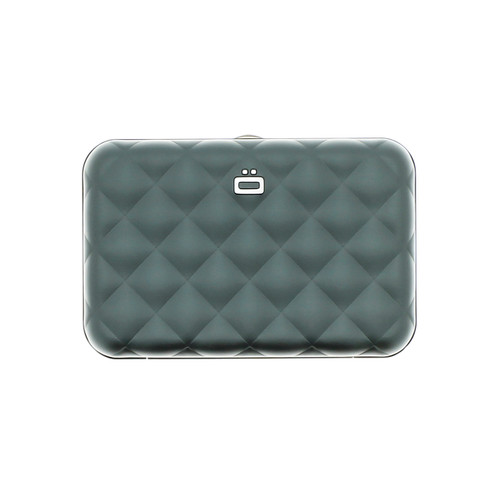 Quilted Button Wallet - Platinum