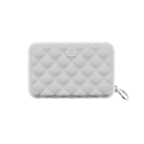 Quilted Zipper Wallet - Silver