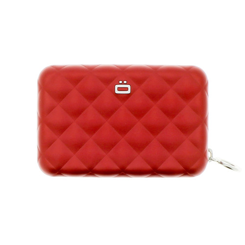 Quilted Zipper Wallet - Red