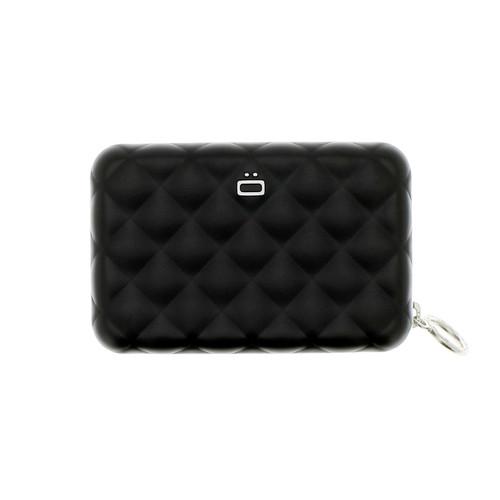 Quilted Zipper Wallet - Black