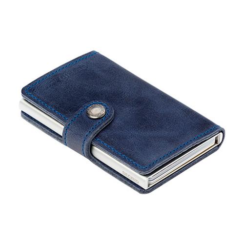 RFID Safe Miniwallet - Blue Vintage