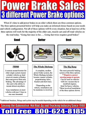 3 Different Power Brake Options