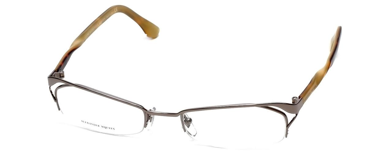 8538ea039ee Alexander Mqueen AMQ4087 Designer Eyeglasses in Gold    Custom Left   Right  Lens