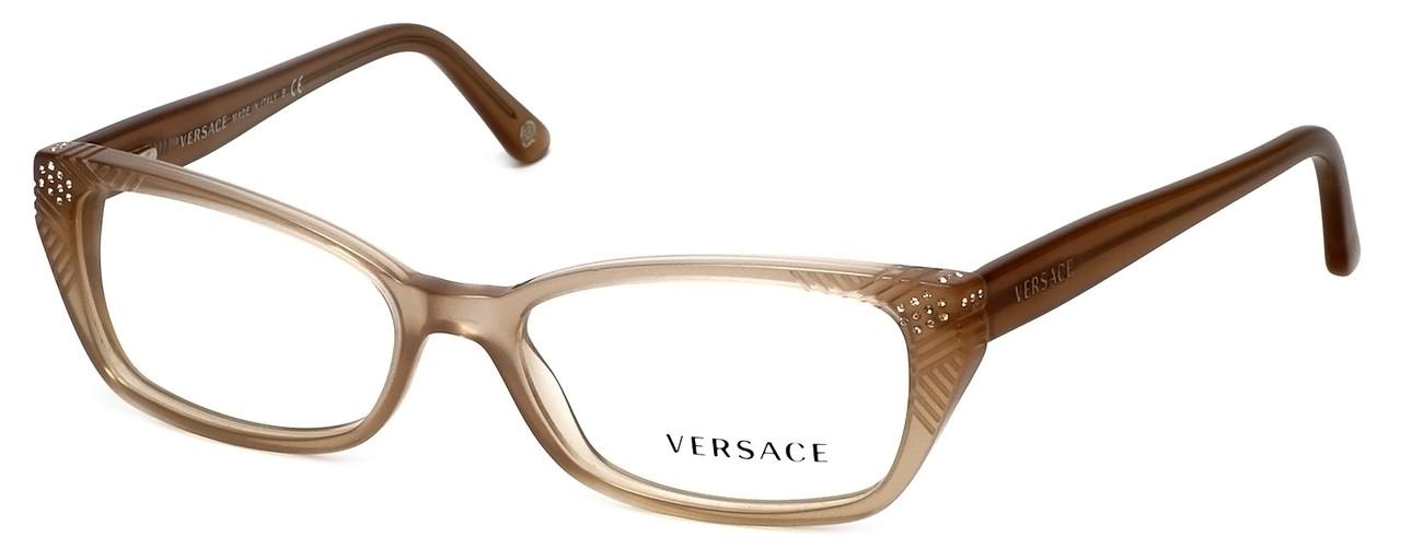 b2b27134e49 Versace Designer Eyeglasses 3150B-937 in Sand 53mm    Custom Left   Right  Lens