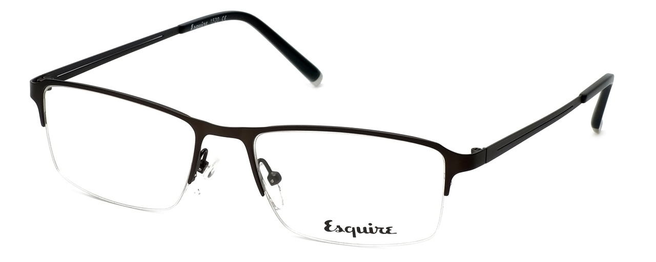 ca9b742acb Esquire Designer Eyeglasses EQ1520 in Satin-Gunmetal 54mm    Custom Left    Right Lens