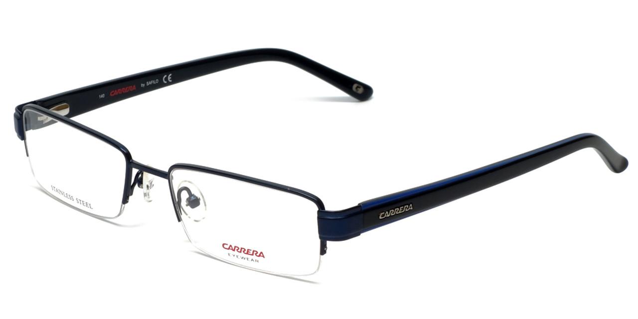 efc6e786ee06 Carrera Designer Eyeglasses CA7585-1P6 in Matte Blue 52mm    Custom Left    Right