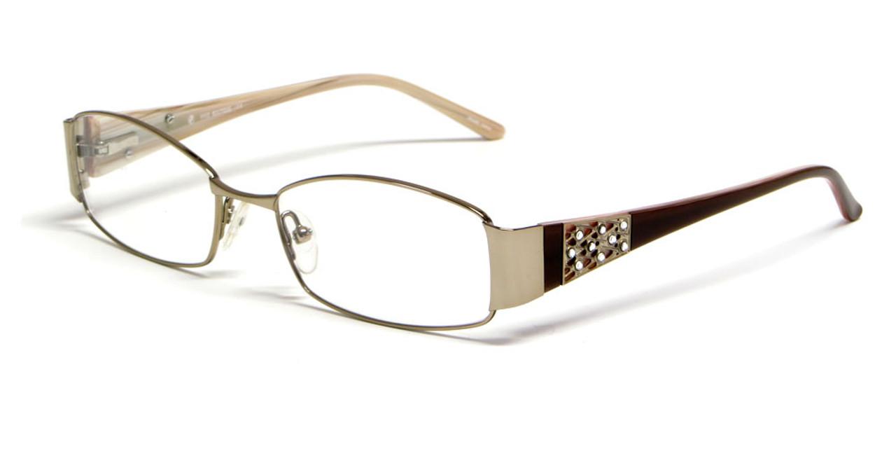 84f74da5cf7 Calabria Viv 5009 Designer Eyeglasses in Brown    Rx Single Vision ...
