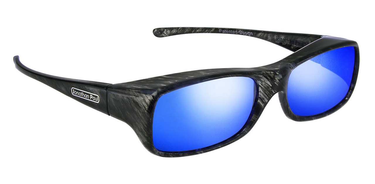 8819999e5f Jonathan Paul® Fitovers Eyewear Large Mooya in Black-Wind   Blue Mirror  MY002BM
