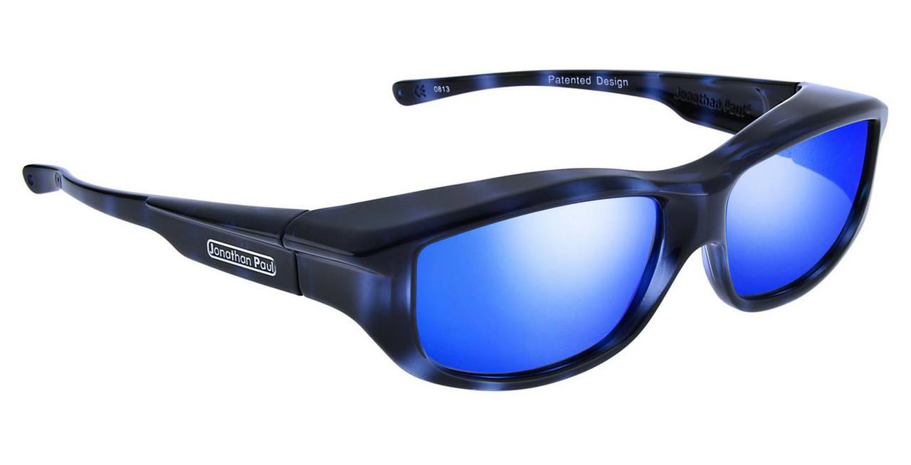 aac69e67ac6 Jonathan Paul® Fitovers Eyewear Large Torana in Blue-Demi   Blue Mirror  TR001BM