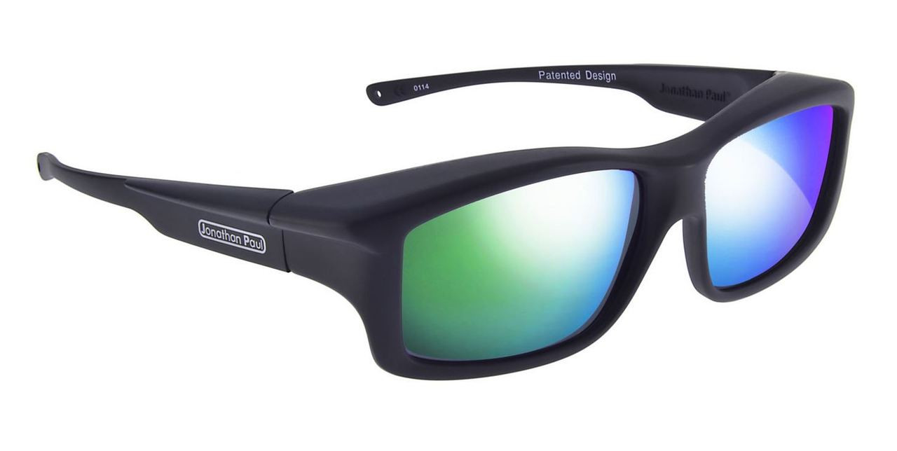 f5f1518c1b Jonathan Paul® Fitovers Eyewear X-Large Yamba in Satin-Black   Green Mirror