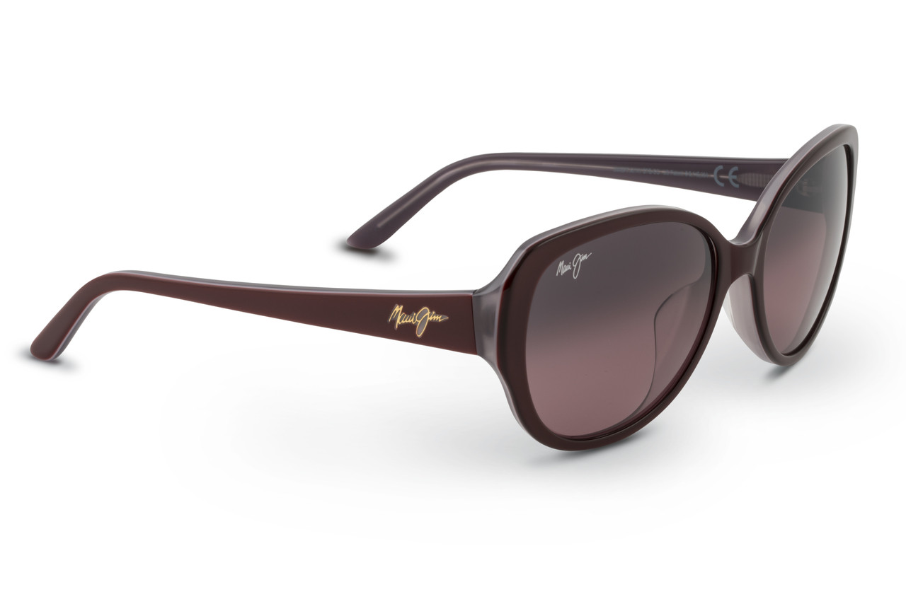 1aae6bc578 Maui Jim SWEPT AWAY Ruby with Mauve Interior   Maui Rose Polarized  Sunglasses