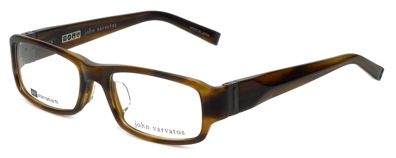 John Varvatos Designer Eyeglasses V341AF in Olive-Horn 53mm :: Rx ...