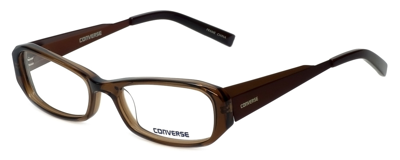 Converse Designer Eyeglasses Composition in Brown 50mm :: Rx Bi ...