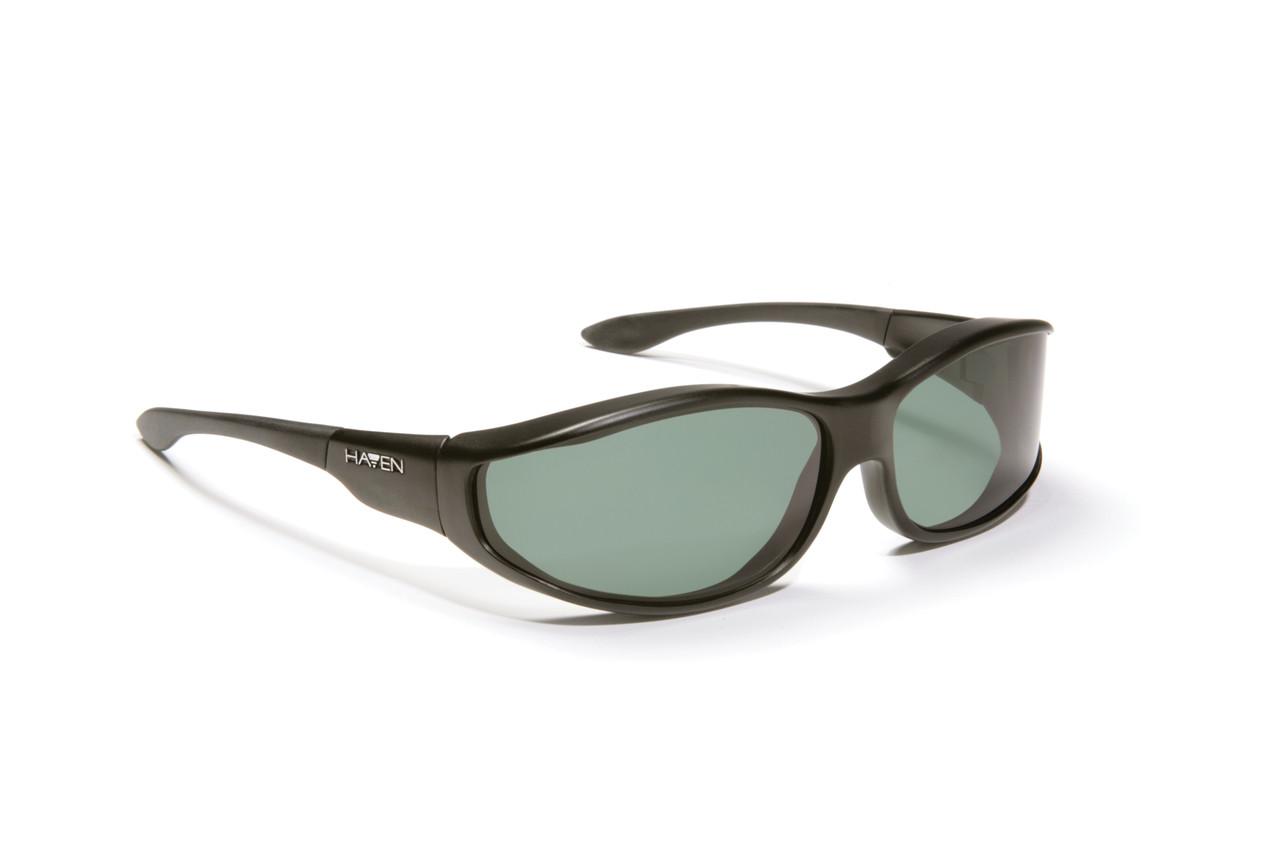 ecc49e7c21 Haven Designer Fitover Sunglasses Tolosa in Black   Polarized Grey Lens  (MEDIUM)