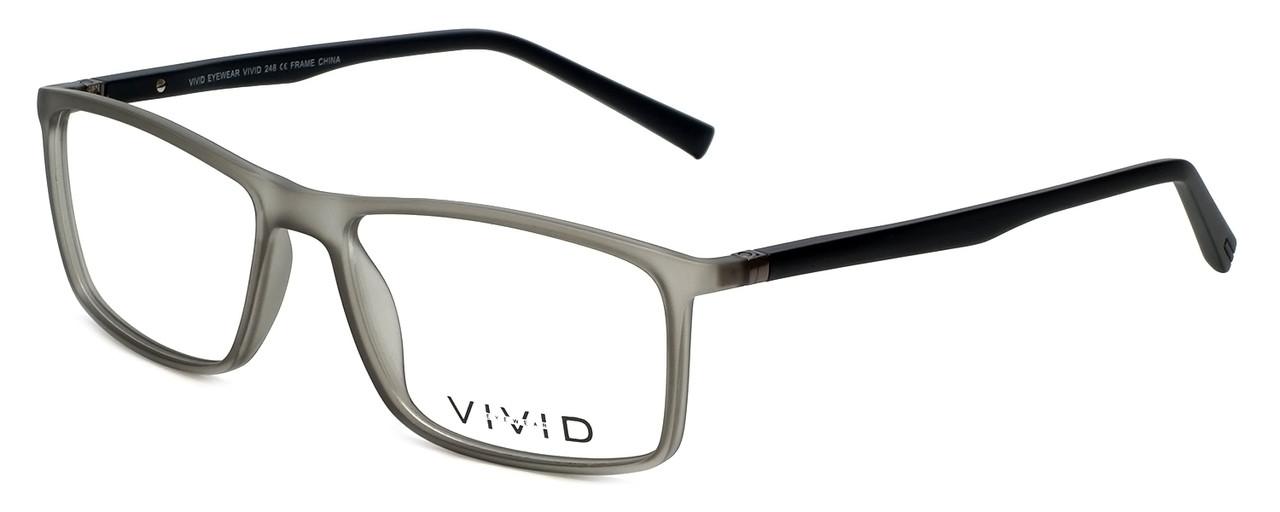 c9c01f63348 Calabria Viv Designer Eyeglasses 248 in Grey-Black 55mm    Rx Bi-Focal