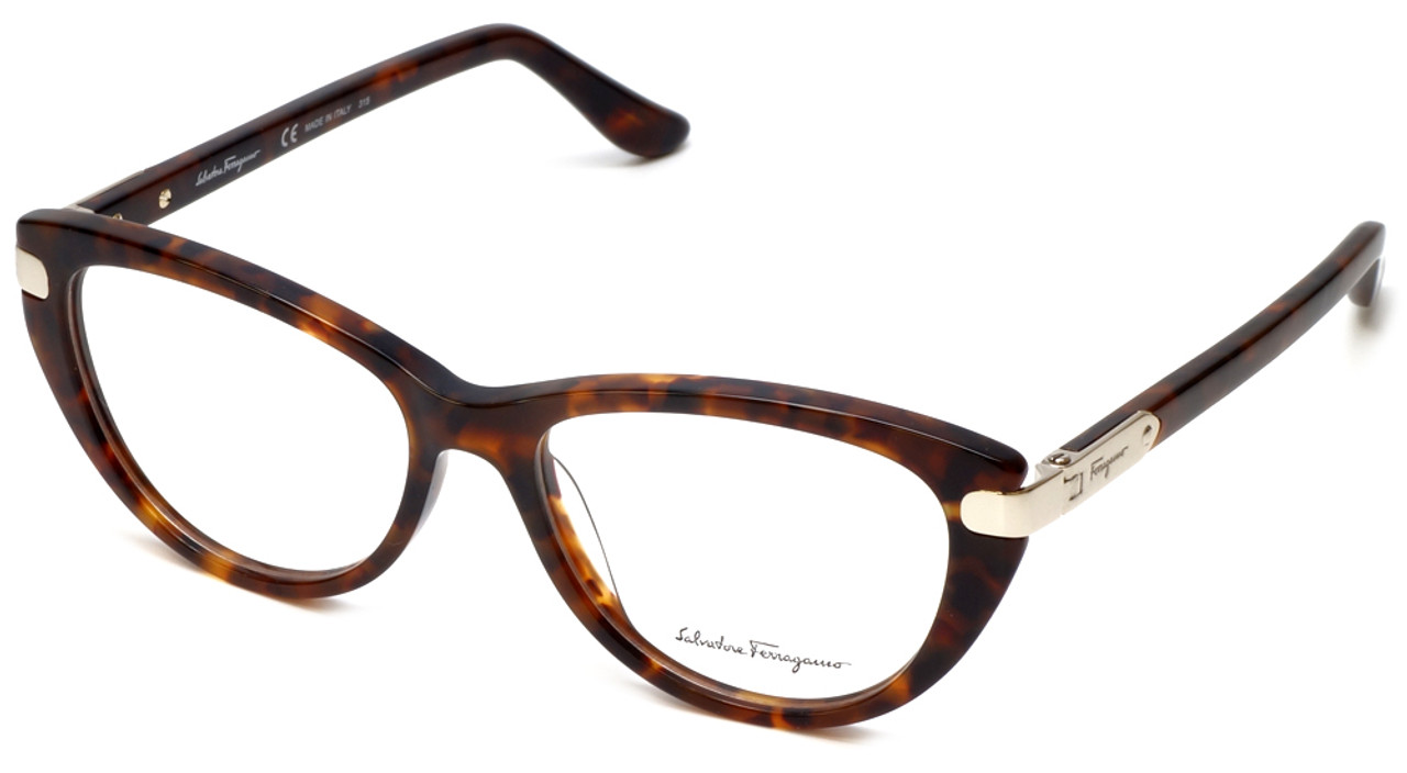 Salvatore Ferragamo Designer Eyeglasses SF2720-214 in Tortoise 52mm ...