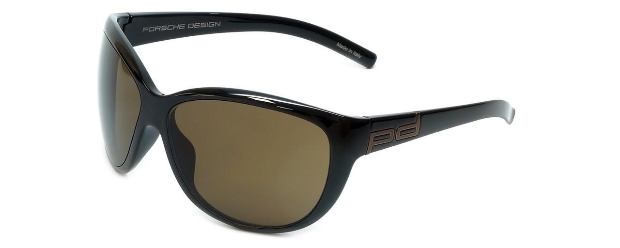 006320fb6878 Porsche Designer Sunglasses P8524-A in Black with Brown Lens ...