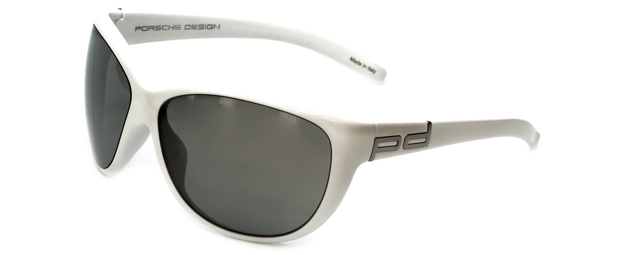 7b1acf3f1775 Porsche Designer Sunglasses P8524-D in White with Grey Lens - Speert ...