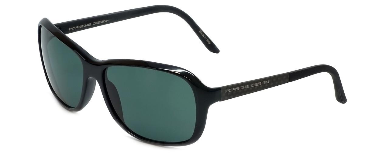 897ffa94eeab Porsche Designer Sunglasses P8558-A in Black with Green Lens ...
