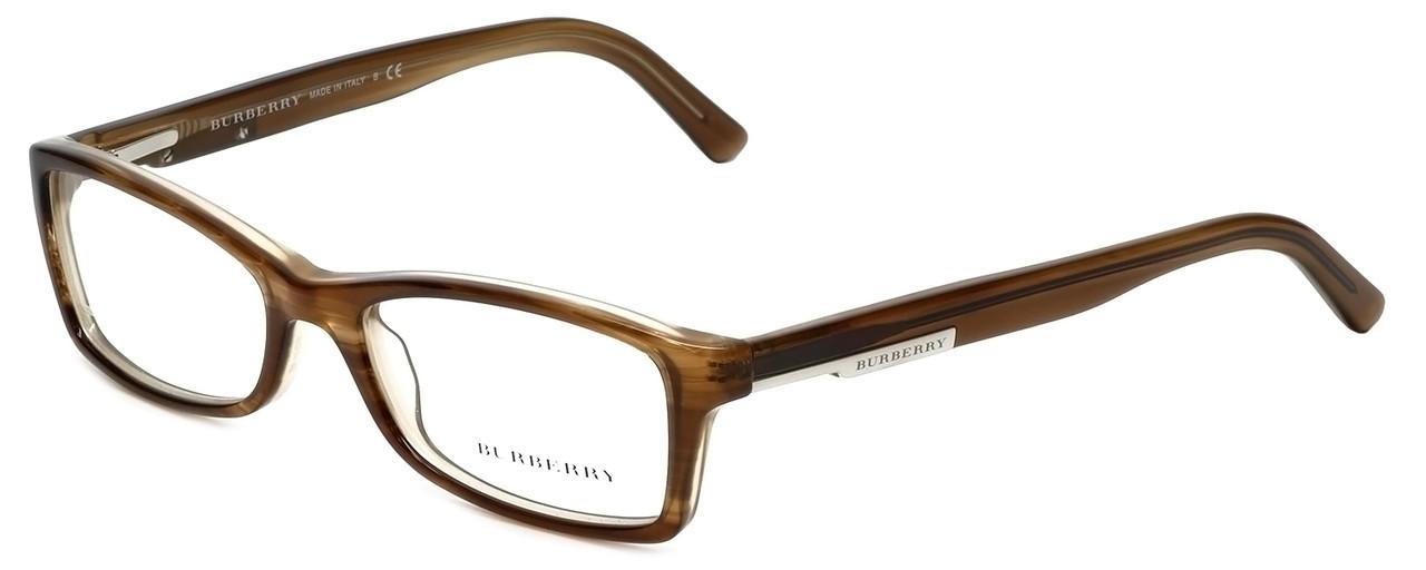 Burberry Designer Reading Glasses B2076-3083 in Striped Beige 50mm ...