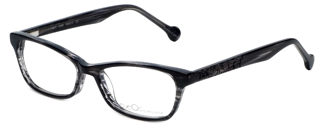 eyeOS Designer Reading Glasses Tamy in Dark Ash 50mm
