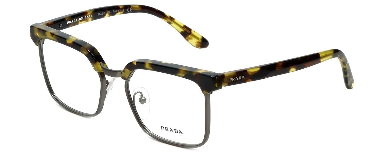 9e0ad6803943 Prada Designer Reading Glasses VPR15S-UBL1O1 in Yellow Havana 52mm ...