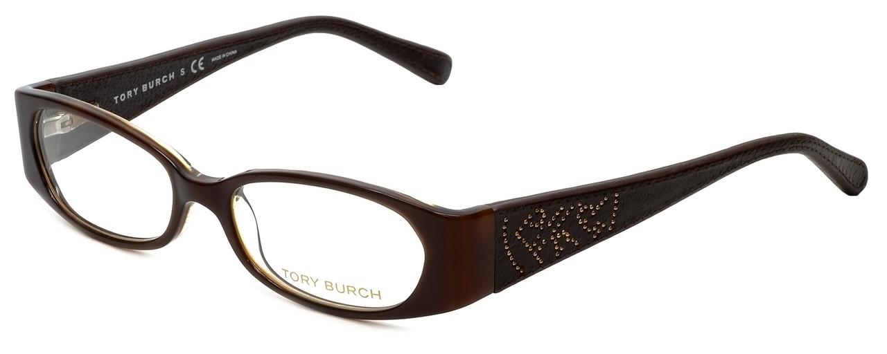 f2d2ec58c492 Tory Burch Designer Eyeglasses TY2011Q-862 in Brown Tortoise 50mm ::  Progressive