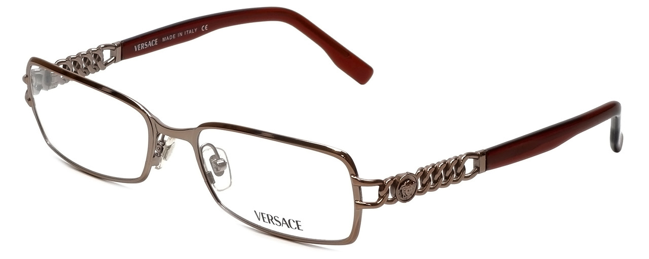 44a4737d298 Versace Designer Eyeglasses 1088-1013 in Mocha Brown 52mm    Custom Left    Right