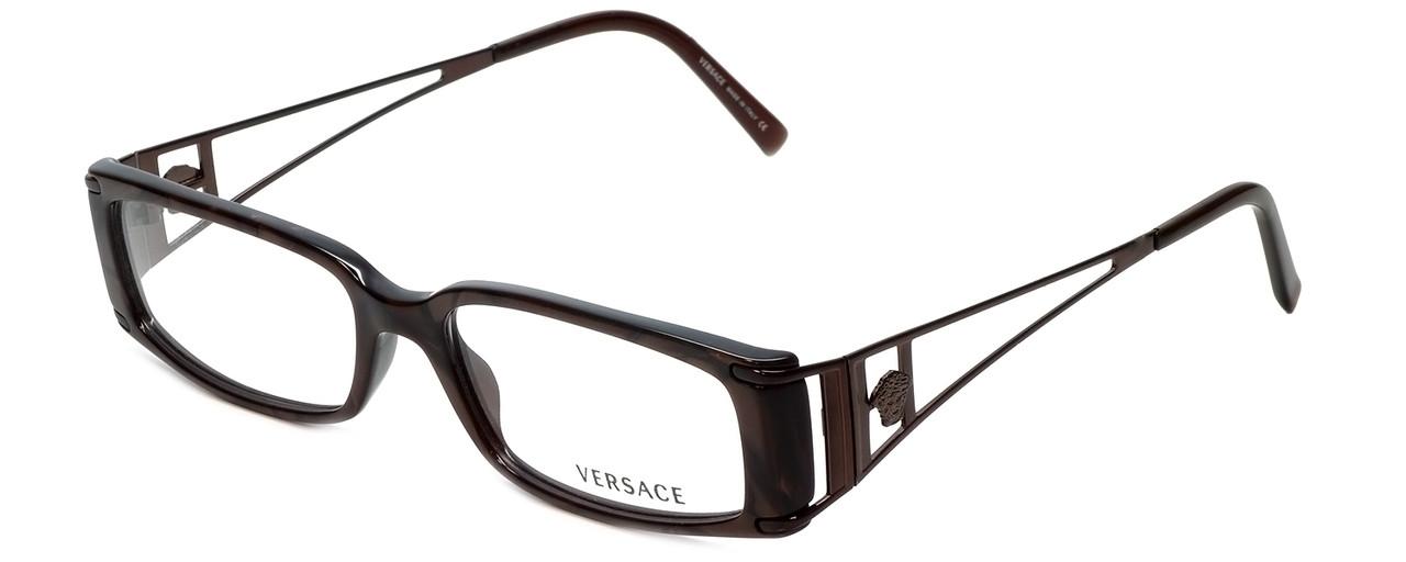 58894dd00d5 Versace Designer Reading Glasses 3082-637 in Brown Marble 50mm ...