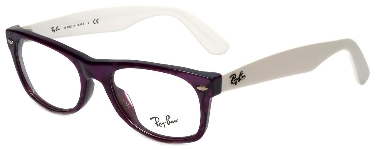 6a1e698338 Ray-Ban Designer Eyeglasses RB5184-2432 in Purple White 50mm    Custom Left