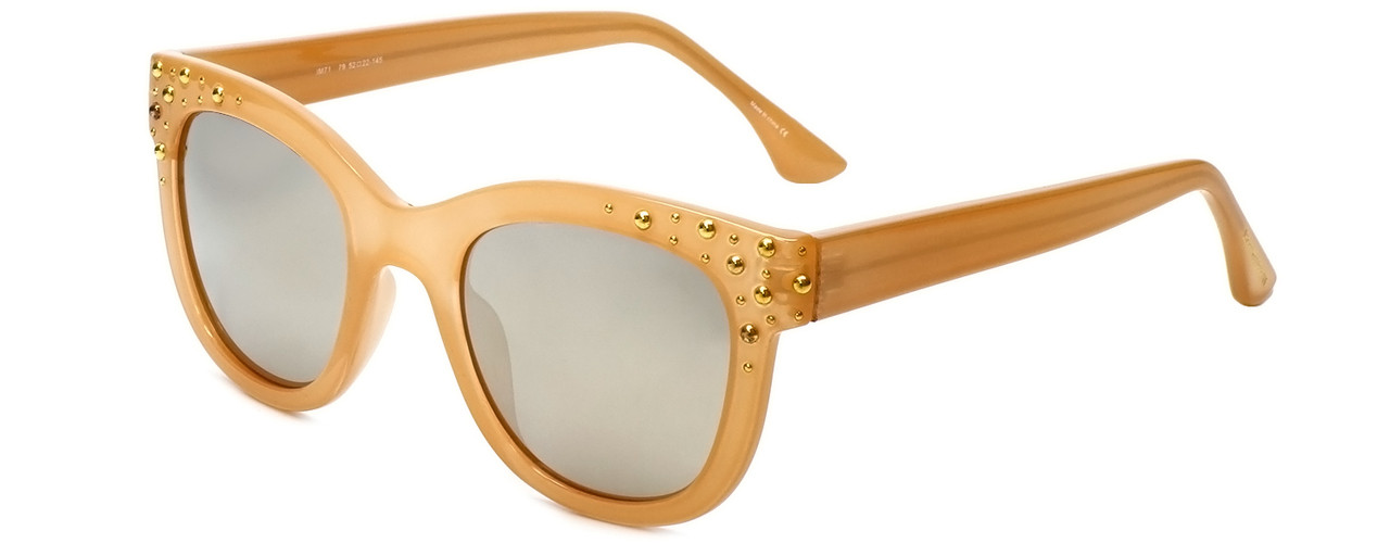 7419542ae9a Isaac Mizrahi Designer Sunglasses IM71-79 in Butterscotch with Brown Mirror  Lens