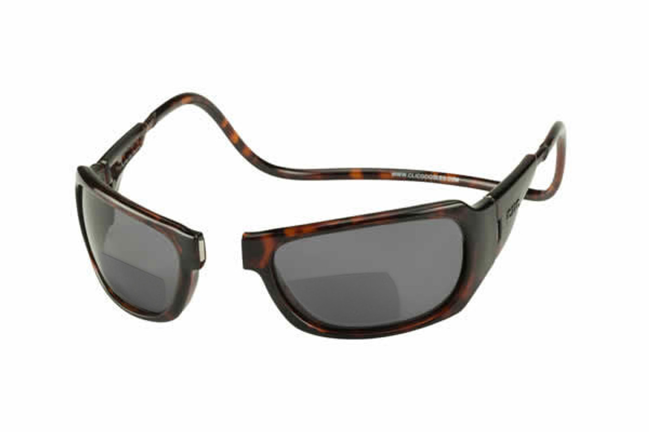 3d4f1f17da Clic Monarch Tortoise Polarized Bi-Focal Reading Sunglasses - Speert ...