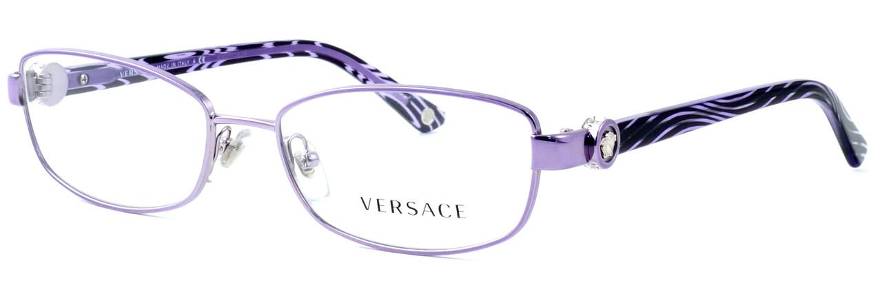 d90a7bbe8fd Versace 1186B-1012 Designer Eyeglasses in Violet    Custom Left   Right Lens