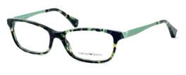 Emporio Armani Designer Eyeglasses EA3031-5227 53mm in Green Havana :: Custom Left & Right Lens
