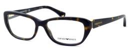 Emporio Armani Designer Eyeglasses EA3041-5026 in Havana :: Custom Left & Right Lens