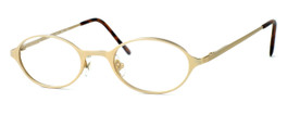 Regency International Designer Eyeglasses Mill 001 in Matte Gold 46mm :: Custom Left & Right Lens