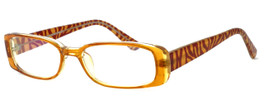 Moda Vision 8004 Designer Eyeglasses in Brown :: Rx Single Vision
