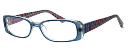 Moda Vision 8004 Designer Eyeglasses in Blue :: Rx Single Vision