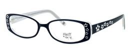 Hilary Duff HD122373-069 Designer Eyeglasses in Black & White :: Rx Single Vision