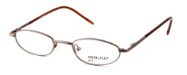 Calabria Kids Fit MetalFlex Designer Eyeglasses TT in Brown :: Rx Single Vision