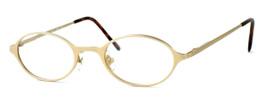 Regency International Designer Eyeglasses Mill 001 in Matte Gold 46mm :: Rx Single Vision