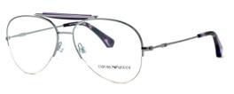 Emporio Armani Designer Eyeglasses EA1020-3010 in Silver & Purple :: Progressive