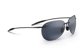 Maui Jim SUGAR BEACH Gloss Black & Neutral Grey Polarized Sunglasses