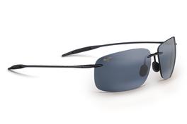 Maui Jim BREAKWALL Gloss Black & Neutral Grey Polarized Sunglasses