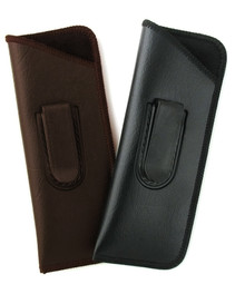 Mens Slim Half-Clip Soft Eyeglass Case