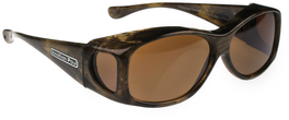Jonathan Paul® Fitovers Eyewear Kids Extra-Small Glides in Brushed-Horn & Amber G006A