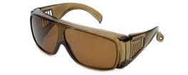 CALABRIA 1003PL Polarized Economy Fitover with UV PROTECTION IN AMBER