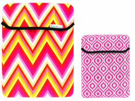 Fashion Smart Reversible Tablet Sleeve in Pink