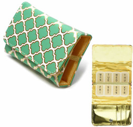 Fashion 7-Day Pill Box in Moroccan-Jade