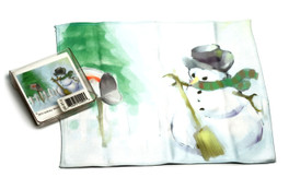 Holiday Christmas Theme Cleaning Cloth Snowman with Mailbox
